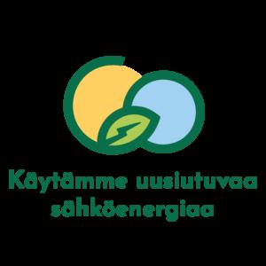 Uusiutuva sähköenergia logo